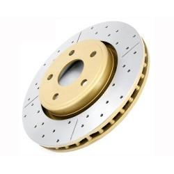 Тормозные диски DBA  перфорация с насечкой   TOYOTA PRADO 120  02/GX470 передние