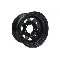 Диск колёсный стальной штампованный посадка 5x139.7 УАЗ размер 8х16 вылет ET- 25 центральное отверстие D 110 цвет: черный.