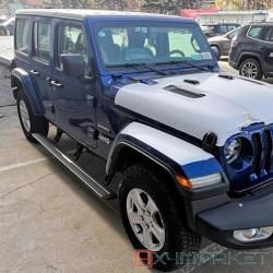 Купить Выдвижные электрические пороги Jeep Wrangler 4 doors 2011+, с логотипом