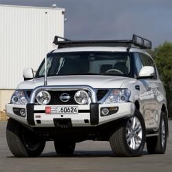 Бампер ARB Sahara на  Nissan Patrol Y62 10+ (с местом под лебедку)
