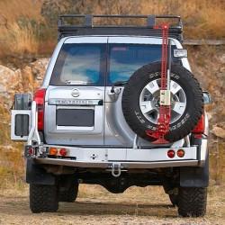 Задний бампер ARB на Nissan Patrol Y61 04+ черный