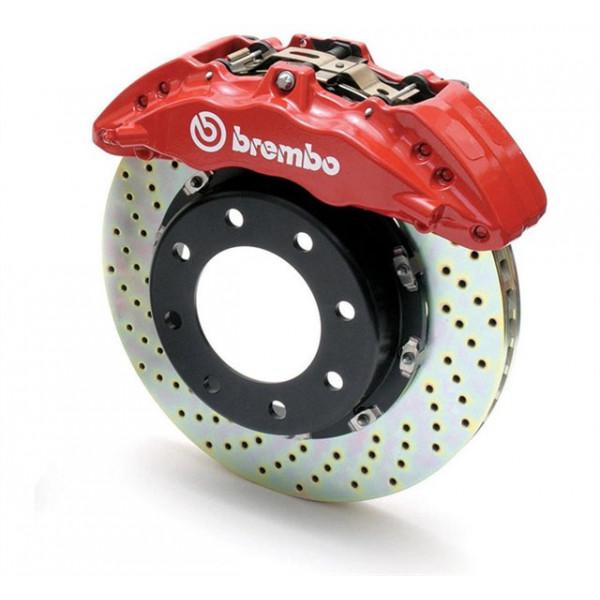 """Купить Тормозная система BREMBO Gran Turismo TOYOTA LC200/LX""""570 15+ передняя, перф., красный  суппорт, перфорированная 1N1.9535"""