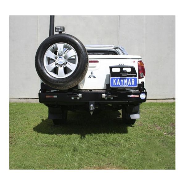 Купить Выносной крепеж запасного колеса KAYMAR к заднему бамперу на левую сторону Mitsu L200 06+  K1021 Kaymar