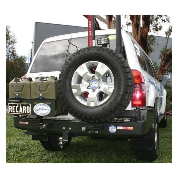 Купить Выносной крепеж запасного колеса KAYMAR к заднему бамперу на правую сторону Nissan Patrol Y61 04+  K8070R Kaymar